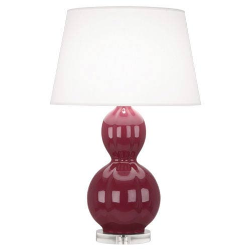 Williamsburg Randolph Carter Plum and Polished Nickel One-Light Table Lamp