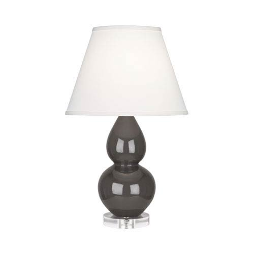 Small Double Gourd Charcoal One-Light Table Lamp with Empire Shade