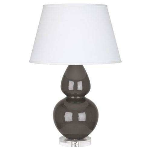 Robert Abbey Double Gourd Charcoal One-Light Table Lamp with Empire Shade