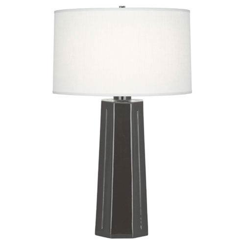 Robert Abbey Mason Charcoal and Polished Nickel One-Light Table Lamp