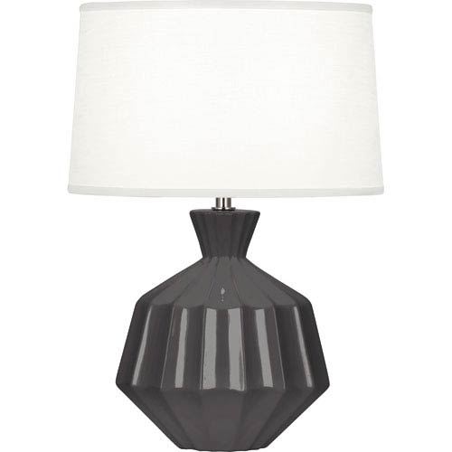 Orion Gray One-Light 17-Inch Ceramic Table Lamp