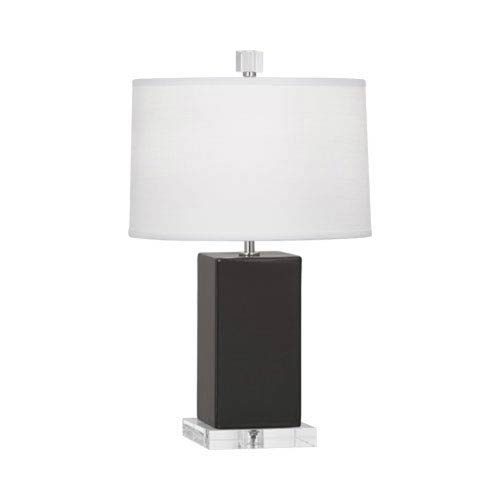 Robert Abbey Harvey Ash and Polished Nickel 19-Inch One-Light Table Lamp