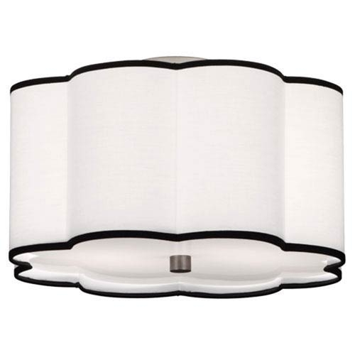Axis Blackened Antique Nickel Two-Light Flush Mount