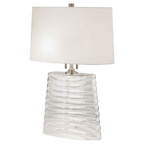 Wells Metallic Silver Wash Two-Light Table Lamp