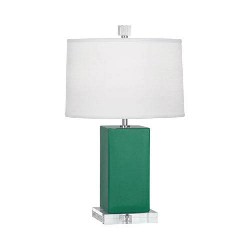 Robert Abbey Harvey Emerald Green And Polished Nickel 19 Inch One
