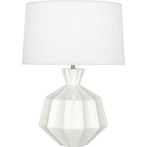 Orion White One-Light 27-Inch Ceramic Table Lamp