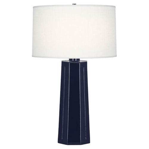 Mason Midnight Blue and Polished Nickel One-Light Table Lamp