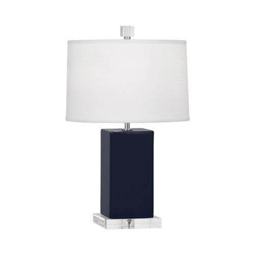 Harvey Midnight Blue and Polished Nickel 19-Inch One-Light Table Lamp