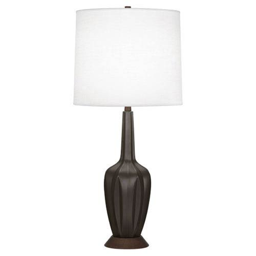 Cecilia Matte Coffee 36.5-Inch One-Light Table Lamp