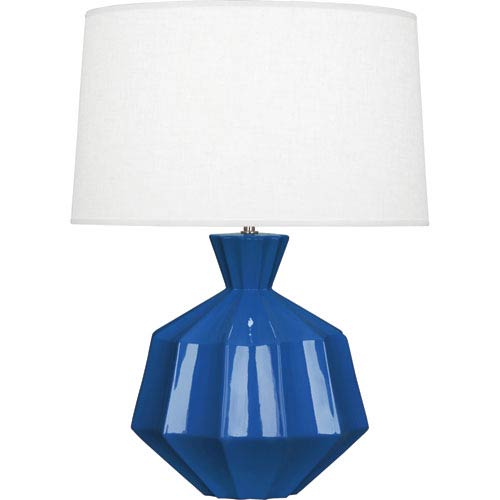 Orion Marine Blue One-Light 27-Inch Ceramic Table Lamp