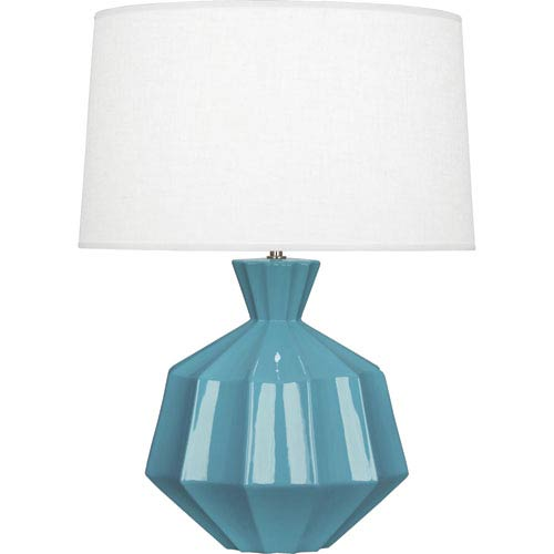Robert Abbey Orion Steel Blue One-Light 27-Inch Ceramic Table Lamp