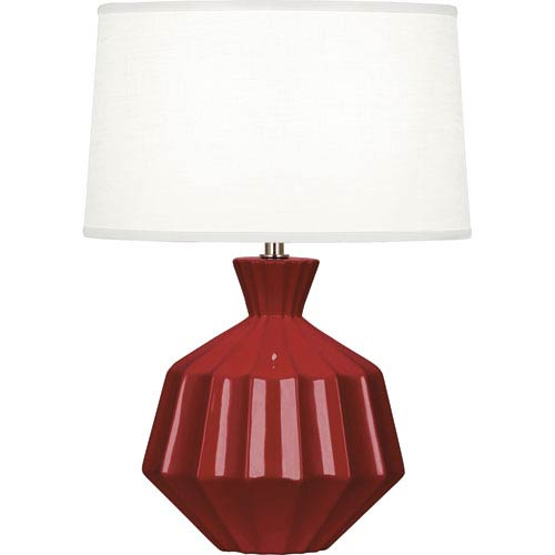 Robert Abbey Orion Oxblood One-Light 17-Inch Ceramic Table Lamp