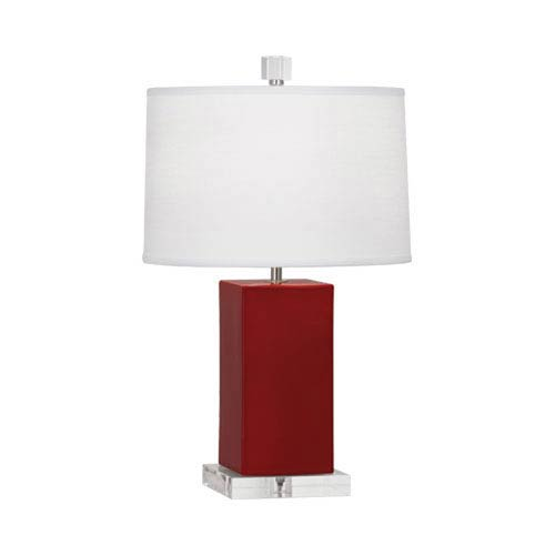 Harvey Oxblood and Polished Nickel 19-Inch One-Light Table Lamp