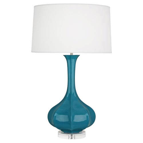 Pike Peacock One-Light Table Lamp