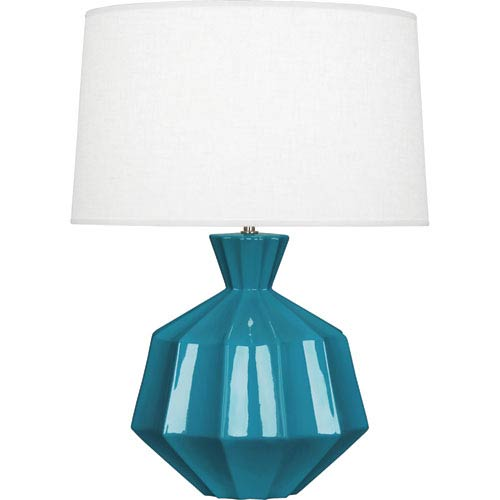 Orion Peacock Blue One-Light 27-Inch Ceramic Table Lamp