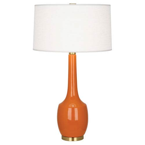 Delilah Pumpkin and Antique Brass One-Light Table Lamp