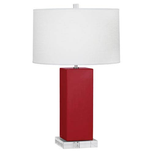 Harvey Ruby Red and Polished Nickel 33-Inch One-Light Table Lamp
