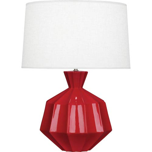 Orion Ruby Red One-Light 27-Inch Ceramic Table Lamp