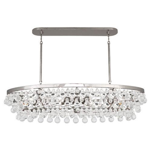 Robert Abbey Bling Polished Nickel Eight-Light Chandelier