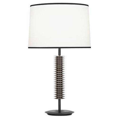 Rico Espinet Plato Deep Patina Bronze and Antique Silver One-Light Lamp