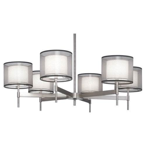 Saturnia Stainless Steel Six-Light Chandelier