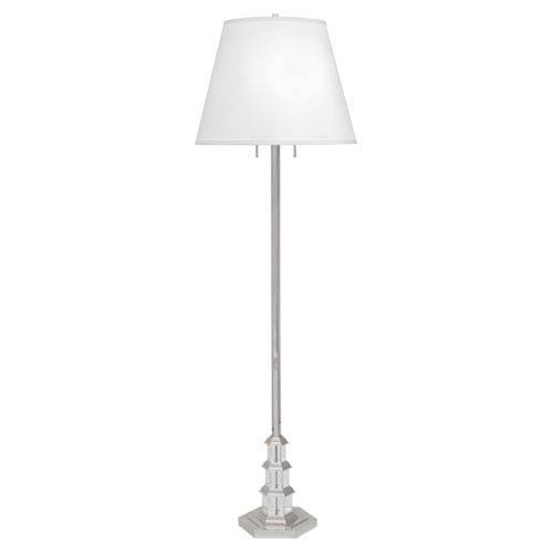 Williamsburg Ming Silver Plate and Crystal Two-Light Floor Lamp
