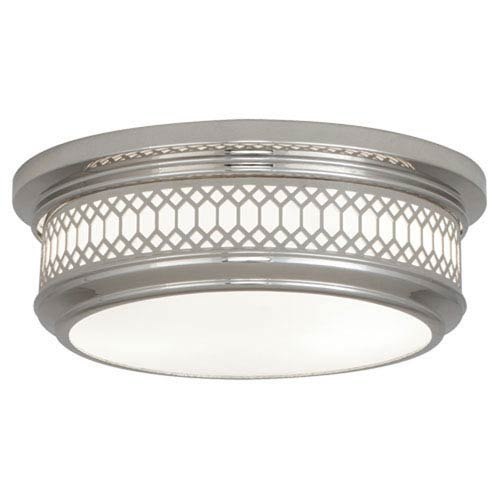 Williamsburg Tucker Polished Nickel Two-Light Flush Mount