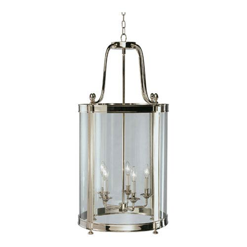 Robert Abbey Blake Polished Nickel Five-Light Chandelier