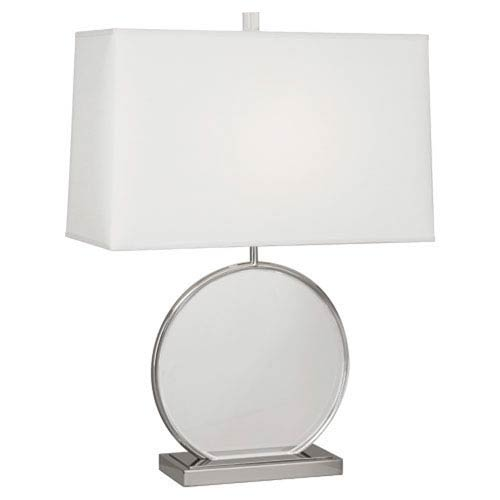 Alice Polished Nickel and Lucite One-Light Table Lamp
