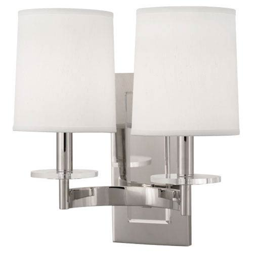 Alice Polished Nickel and Lucite Two-Light Sconce