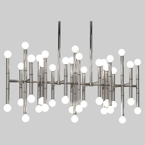 Jonathan Adler Meurice Polished Nickel 42 Light Chandelier