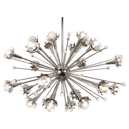 Jonathan Adler Sputnik Polished Nickel 33.5-Inch 24-Light Chandelier