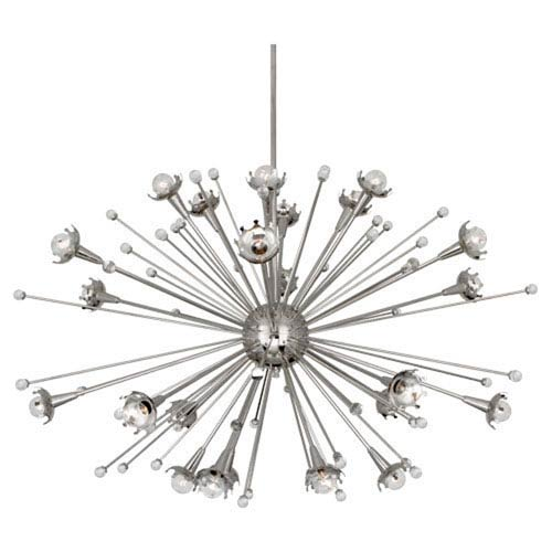 Jonathan Adler Sputnik Polished Nickel 48-Inch 24-Light Chandelier
