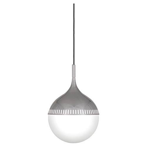 Jonathan Adler Rio Polished Nickel 12-Inch One-Light Pendant