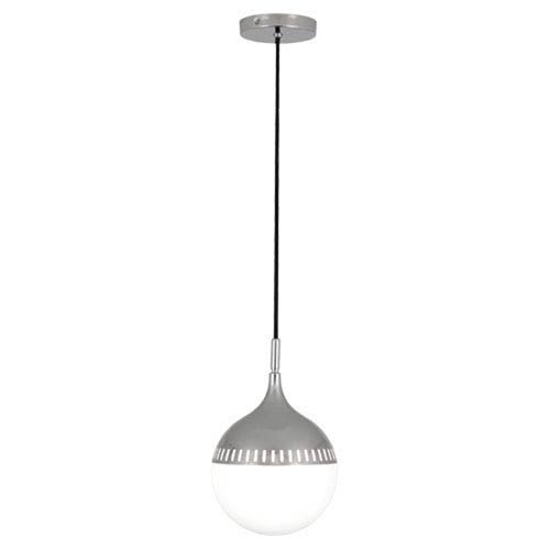 Jonathan Adler Rio Polished Nickel 8-Inch One-Light Mini Pendant