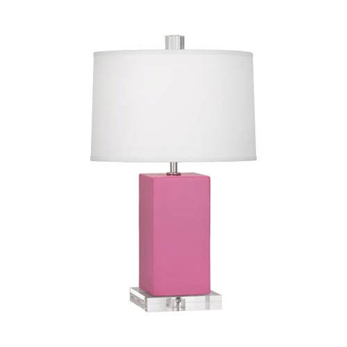 Robert Abbey Harvey Schiaparelli Pink and Polished Nickel 19-Inch One-Light Table Lamp