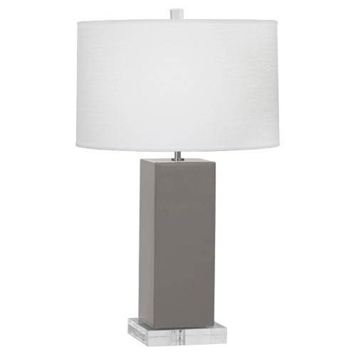 Harvey Smokey Taupe and Polished Nickel 33-Inch One-Light Table Lamp