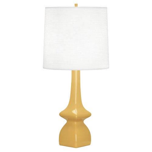 Jasmine Sunset Glazed Ceramic One-Light Table Lamp