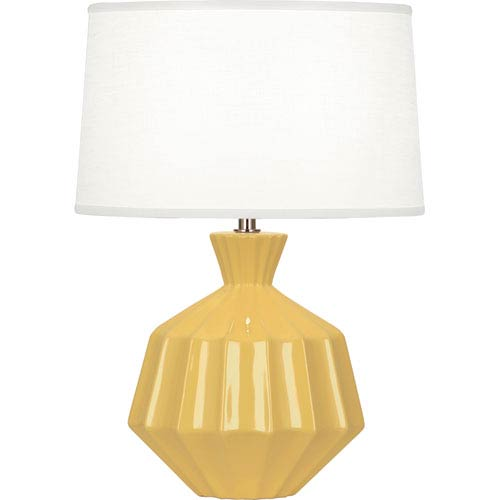 Orion Sunset Yellow One-Light 17-Inch Ceramic Table Lamp