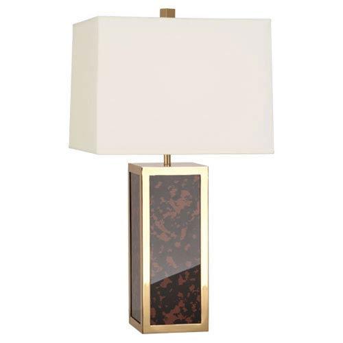 Jonathan Adler Barcelona Tortoise and Polished Brass 28-Inch One-Light Lamp