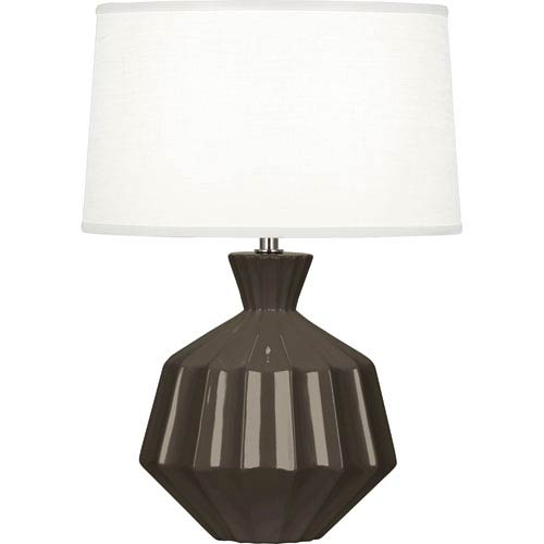 Orion Brown Tea One-Light 17-Inch Ceramic Table Lamp
