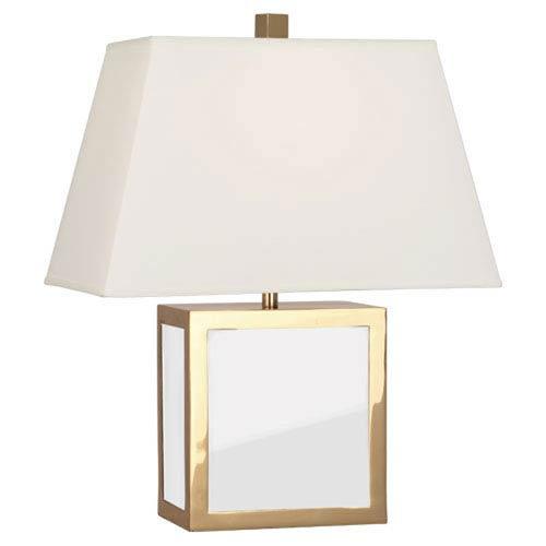 Jonathan Adler Barcelona Polished Brass and White One-Light Table Lamp