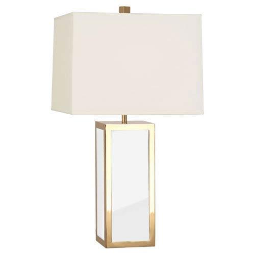 Jonathan Adler Barcelona Polished Brass and White 28-Inch One-Light Lamp