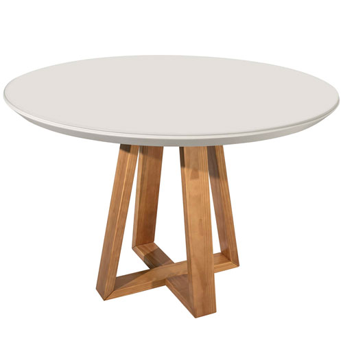 Duffy Off White Round Dining Table