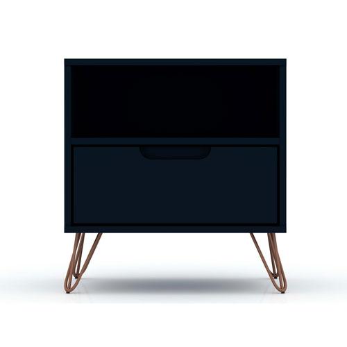 Rockefeller Blue One-Drawer Nightstand