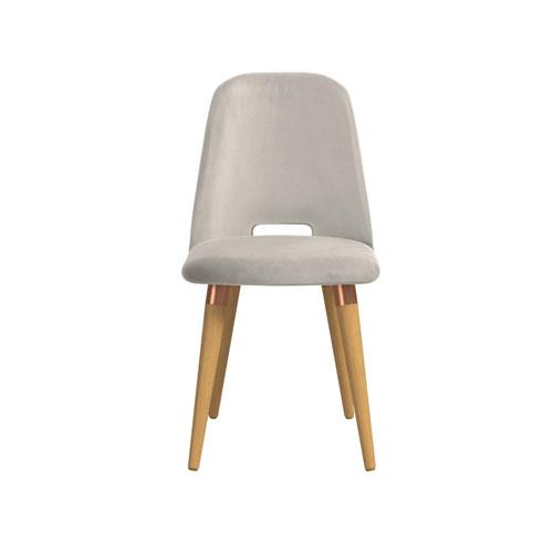 Selina Beige Velvet Accent Chair