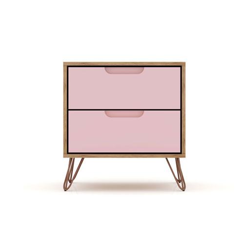Rockefeller Pink Two-Drawer Nightstand