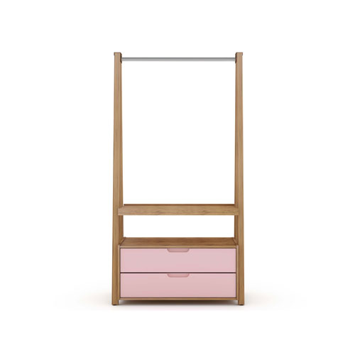 Rockefeller Pink Two Drawers Armoire