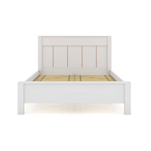 Gramercy White Queen-Size Bedframe with Headboard