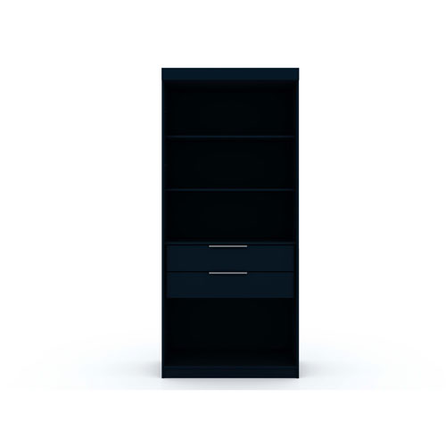 Blue Two Drawers Storage Armoire